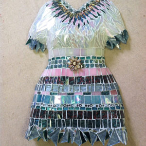 Dress mosaic mold blue