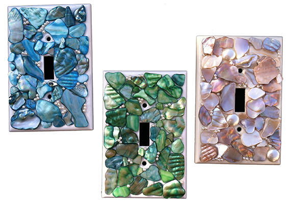 Light Switch Cover shell blue green beige