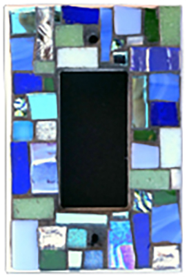 Light Switch Cover blue square mosaic