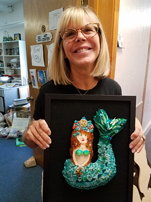 Mermaid mosaic student torquise