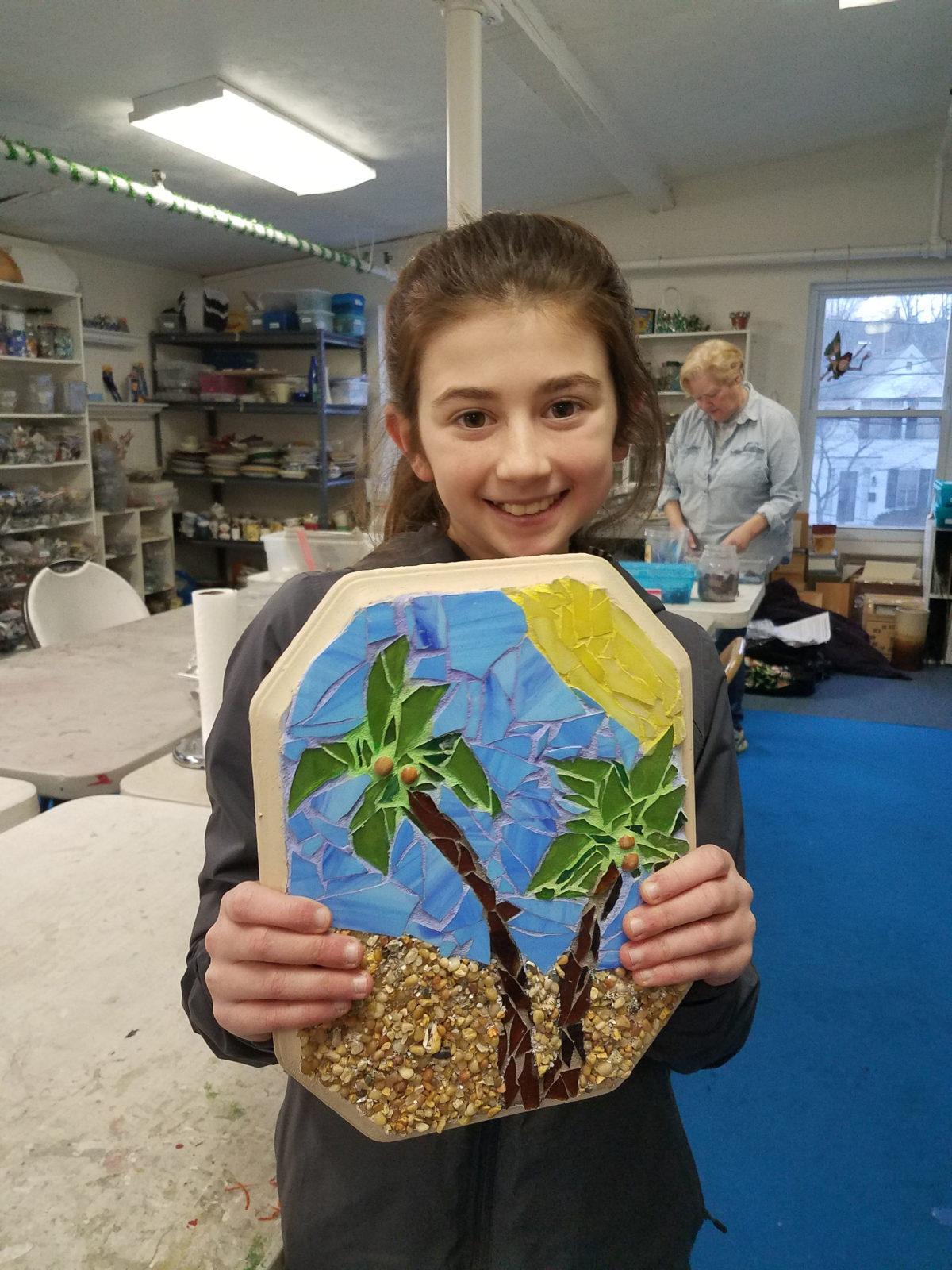 beach mosaics children class