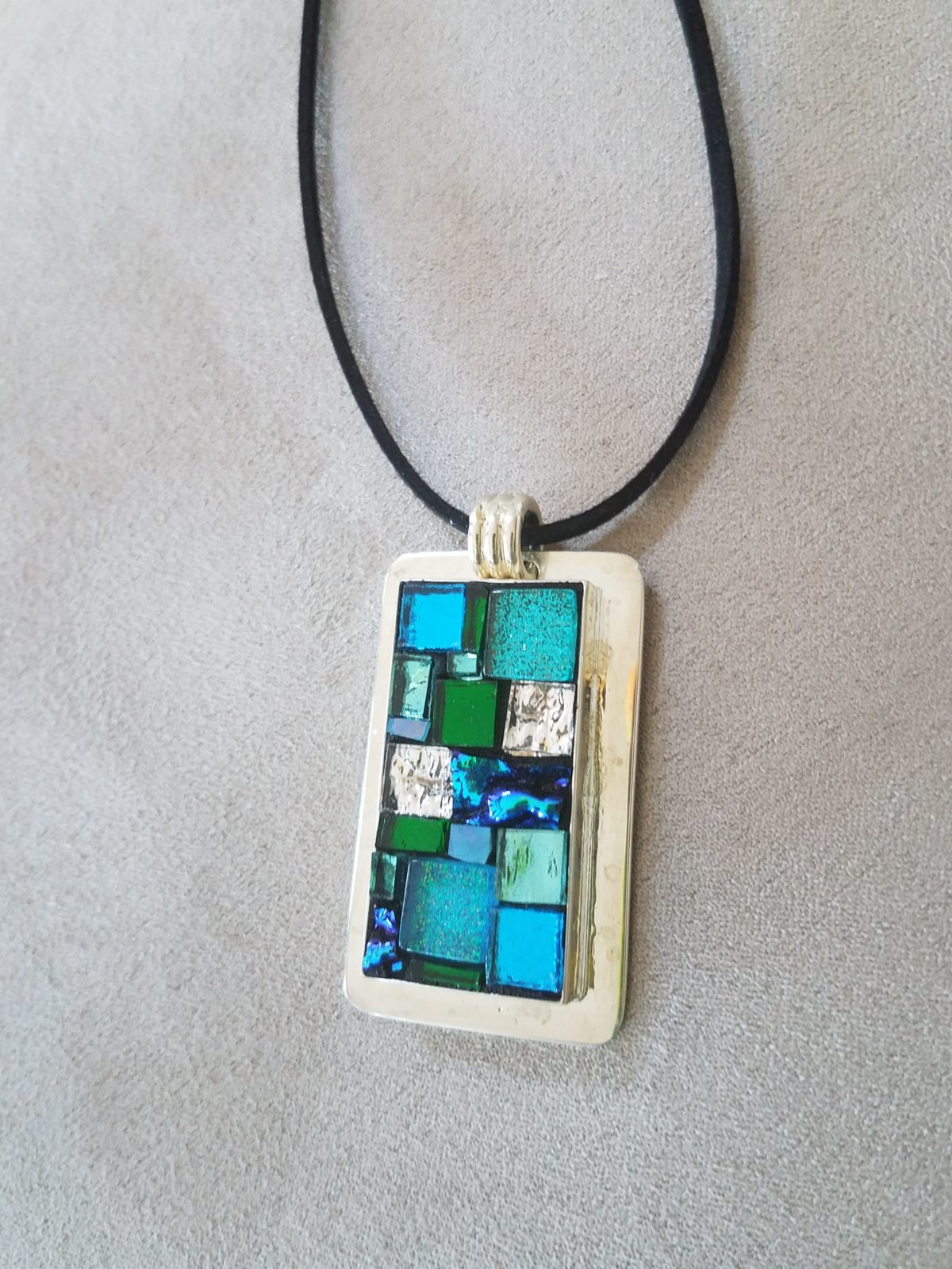 dichroic glass sterling blue torquise
