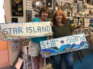 Star island, Maine mosaic art