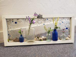 resin class bottle art mosaic