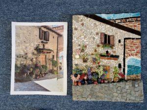 mixed media mosaic, Tuscany