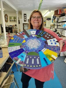 round house mosaic art