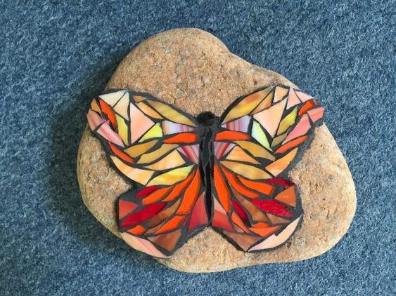 Rock Mosaic Butterfly