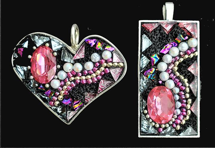 Heart pendant mosaic