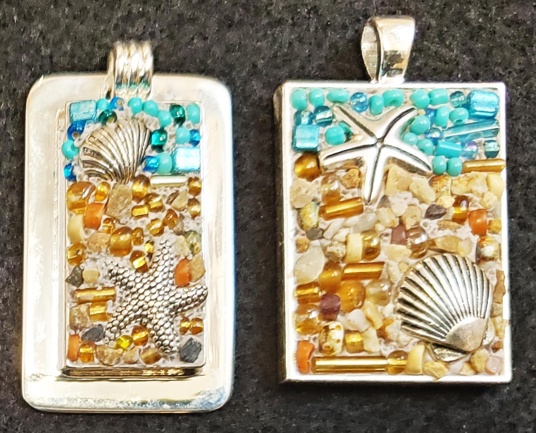 Beach Mosaic Pendant
